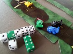 Dicey Curves, Deluxe Edition, Green Car at a 5-Dice Gate