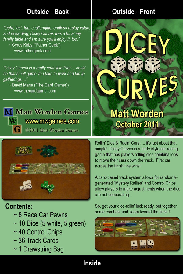 Dicey Curves Retailer Info Card