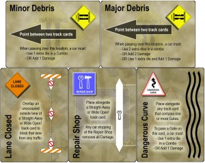 Dicey Curves DANGER! - Track Modifier Cards