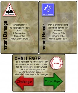 Instant Damage/Repair and Challenge Cards from Dicey Curves DANGER!