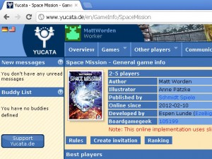 Play Space Mission at Yucata.de