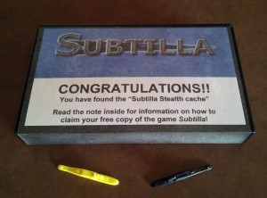 Subtilla Stealth cache - the box