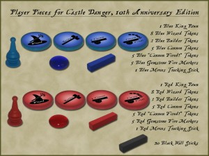 Castle Danger, 5th Edition, Player Pieces