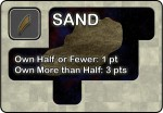 Early Draft of Sand Resource card for Jump Gate, 3rd Edition