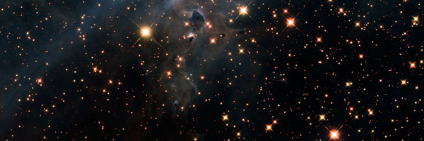 Hubble Telescope Infrared Image of Mystic Mountain