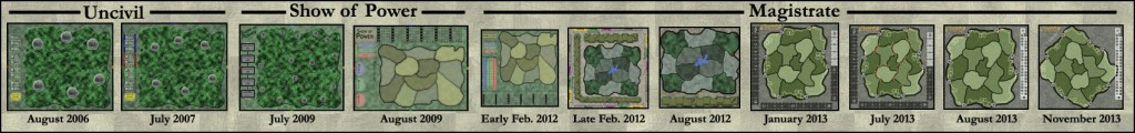 A Graphic History of Magistrate's Main Game Board Designs, 2006-2013