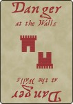 Danger at the Walls Prototype, Red Deck Back, Feb 2014