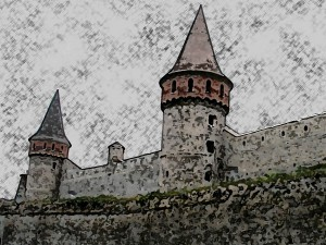 Danger at the Walls, Castle Sketch, June 2014