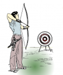 Archery Illustration from Pearson Scott Foresman via Wikimedia Commons