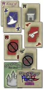 Sample cards from King of Danger, v7