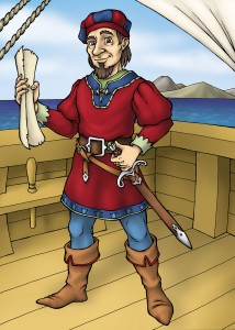 Portrait Illustration of Raimundo Peres da Costa, discoverer of the Land of Danger
