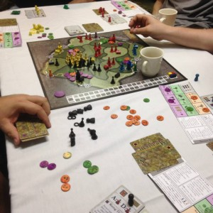 Magistrate during playtest at Protospiel-Milwaukee, Spring 2015