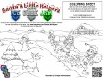 Santa's Little Helpers and the Ice Cube Jam - FREE Coloring Sheet