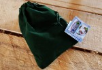 """NEW Green Gift Bag of """"Santa's Little Helpers and the Ice Cube Jam"""" - $10"""