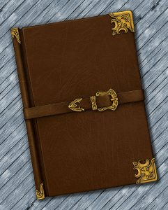 Leatherbound Book on Planks