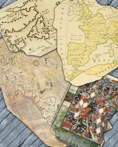 Old Maps on Planks