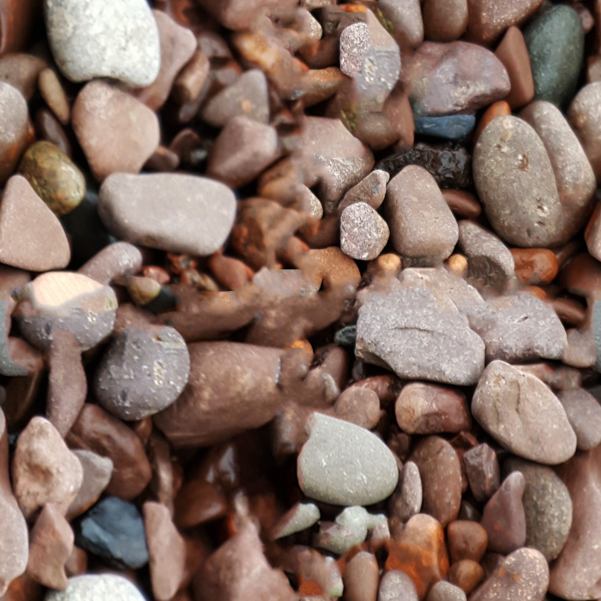Free 8-pack of Square Repeating Textures – Beach Rocks