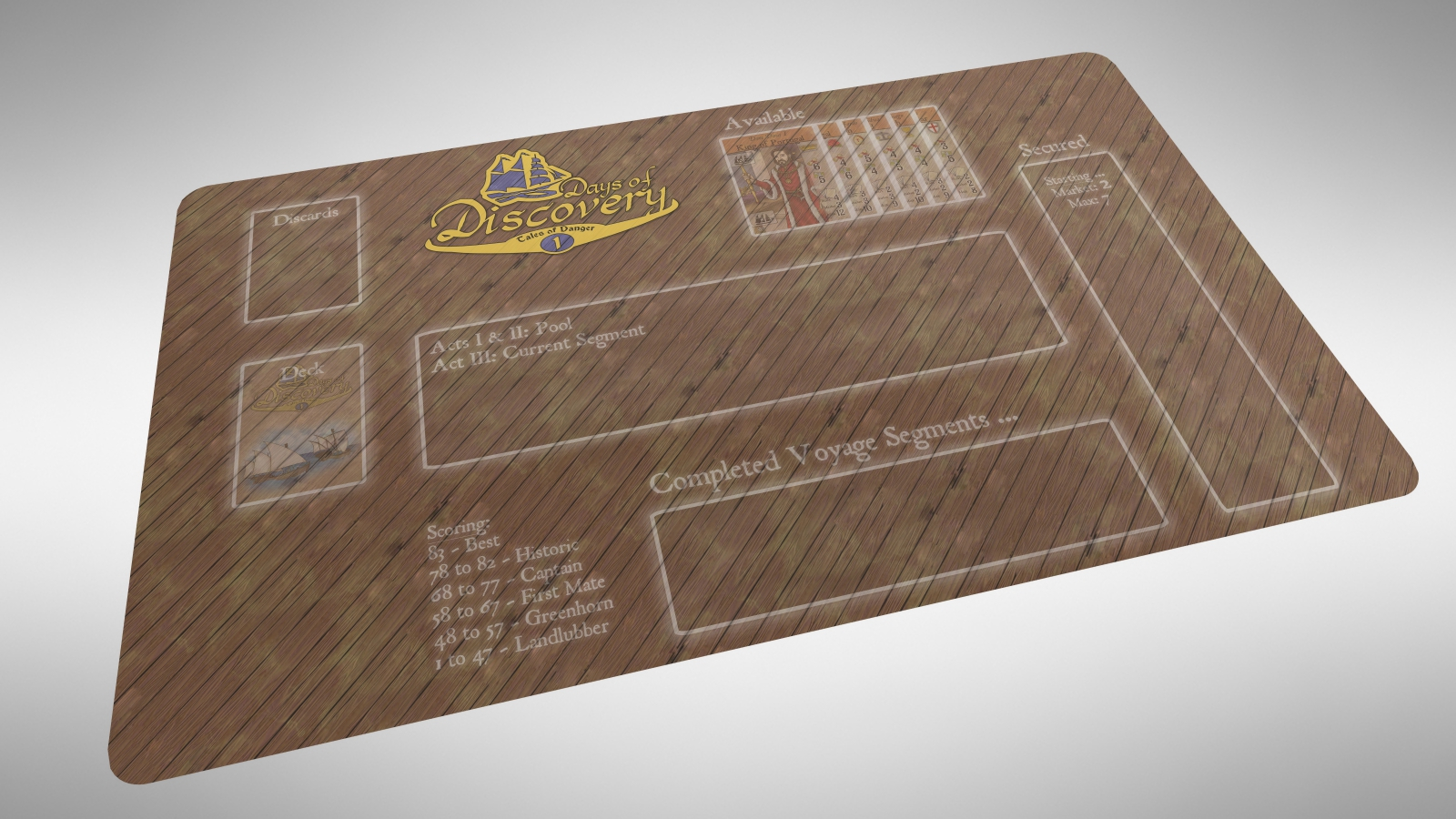 NEW!! – Neoprene Solo-Play Mat for Days of Discovery – $19.99